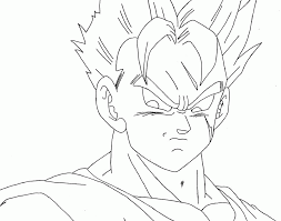 coloring pages engaging gohan coloring pages anime dragon ball