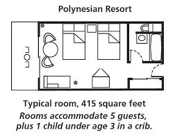 Typical Hotel Room Floor Plan Disney U0027s Polynesian Village Resort