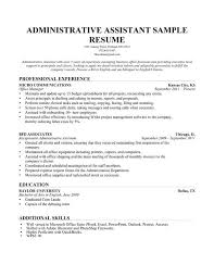 Resume In English Sample by Chronological Sample Resume Executive Administrative Assistant