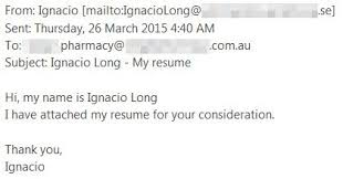 I Have Attached My Resume Email Scam Warning