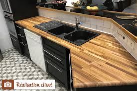 protection plan de travail bois cuisine plan de travail chêne massif nature la boutique du bois plans de