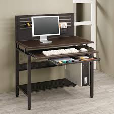 Modular White Computer Desk With Built In Rack Shelves Simple And