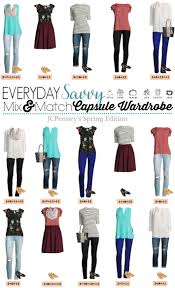 Wardrobe Clothing Jcpenney Capsule Wardrobe For Spring Mix U0026 Match