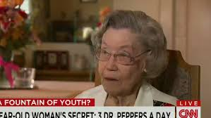 Old Lady College Meme - 104 year old woman s secret 3 dr peppers a day cnn video