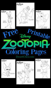 disney zootopia coloring pages desert chica