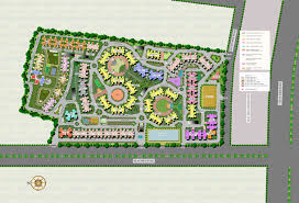 residential site plan supertech ecovillage ii residential apartments in noida