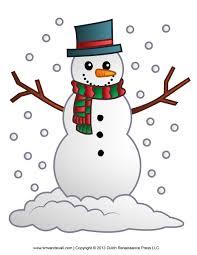 holydays clipart snowman family pencil color holydays