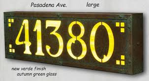 Lighted House Number Sign Lighted Address Plaque Iron Blog