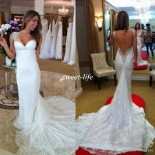 inbal dror wedding dresses mermaid backless lace bling