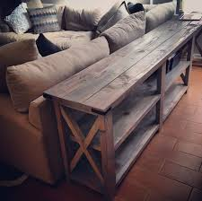 rustic x console table modified ana whites rustic x console table and used minwax classic