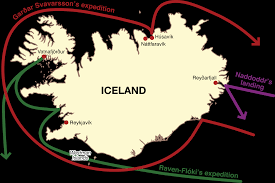 Viking Map The Norse Discovery And Settlement Of Iceland During The Viking Age