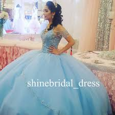 blue quinceanera dresses light blue quinceanera dresses beaded shoulder prom wedding