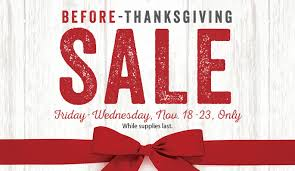 lifeway s pre thanksgiving sale