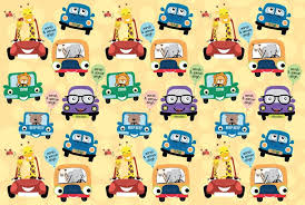 cars wrapping paper customised wrapping paper dots and doodles design