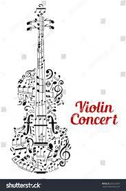 creative vector violin concert poster design stock vector
