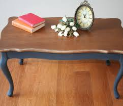 Refurbished End Tables by Queen Anne Coffee Table Painted In Graphite Ascp Restorissimo
