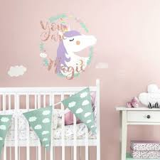 Wall Decor Stickers For Nursery Unicorn You Are Magic Wall Decals Glittery Fairytale Nursery Room