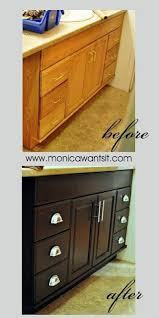 how to change the color of oak cabinets espresso cabinets diy easy way to change golden oak