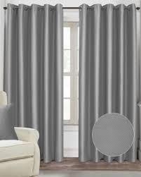 Grey Herringbone Curtains Silver Grey Herringbone Style Eyelet Blackout Curtains Homescapes