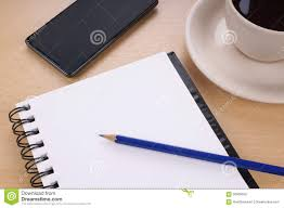 blank writing pad on desk stock photo image 56638502