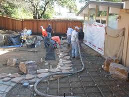 Concrete Patio Ideas Backyard by Backyard Concrete Slab Ideas Backyard Design Ideas
