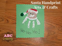 christmas santa handprint arts crafts tierra este 71632