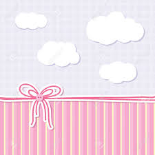 creepy kawaii background 14840754 baby background with bow buttons and clouds stock vector