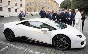 lamborghini customised lamborghini donates a customised huracan to pope francis torque