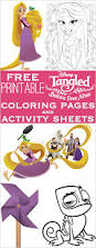 tangled coloring pages activity sheets