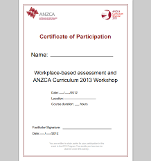 certificate of participation format of certificate of