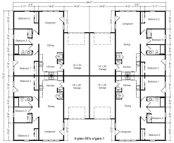 exciting 4 plex house plans ideas best image contemporary