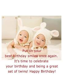 53 fabulous birthday wishes for twins greetings and sayings