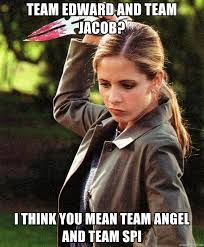 Badass Meme Generator - team edward and team jacob i think you mean team angel and team spi