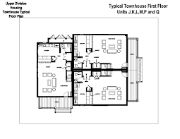 upper floor plan village townhouses washington and lee university