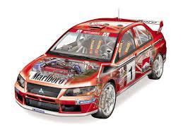mitsubishi lancer evolution iv gr a wrc u00271997 u201398 cutaway cars
