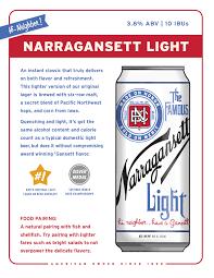 Calories In Light Beer Narragansett Beer Light