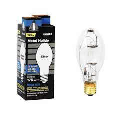 Mercury Vapor Light Fixtures 175 Watt by Philips 175 Watt Clear Metal Halide Hid Light Bulb 140855 The