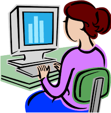 At Computer Meme - make meme with lady on computer clipart