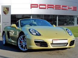 second porsche boxster s used 2014 64 reg lime gold porsche boxster 3 4 s 2dr for sale on