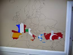 things i think i think europe travel wall project i had to make a few decisions for example we obviously haven t been to every greek island but we ve been to some so i