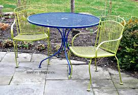 Old Metal Patio Furniture Lawn Garden Attractive Outdoor Vintage Metal Chair Yellow Powdered