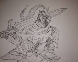 artorias sketch by moon and iron on deviantart