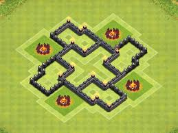 coc village layout level 5 epic town hall 5 th5 trophy clan war base clash of clans youtube