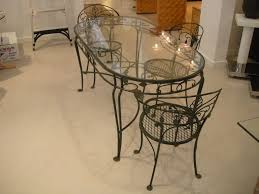 wrought iron dining table glass top dining room great dining room design ideas using wrought iron