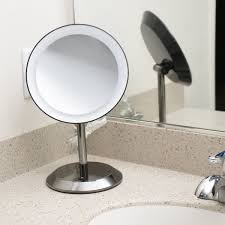 conair led lighted mirror be50lbchw 9 black chrome freestanding led lighted vanity mirror