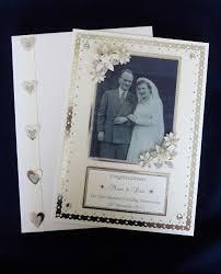 50th wedding anniversary photo album personalised diamond 60th wedding anniversary card box with