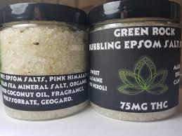epsom salt vs table salt green rock bubbling epsom salt soak