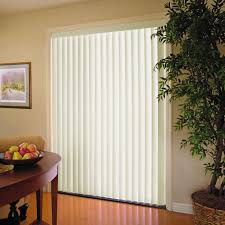 drapery ideas for sliding glass doors white 3 5 in pvc vertical blind 78 in w x 84 in l