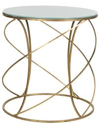 Glass Top Accent Table Fox2535a Accent Tables Furniture By Safavieh