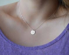 3 Initial Monogram Necklace Sterling Silver Sterling Silver Initial Necklace Satin Discs Monogram Engraved